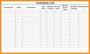 Basic Inventory Spreadsheet 12 13 Simple Inventory List Template Lascazuelasphilly Com