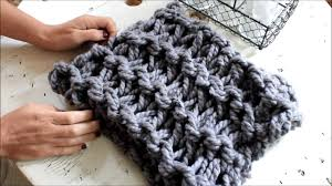 Arm Knitting Patterns New How To Arm Knit A Garter Stitch Scarf In 48 Minutes With Simply