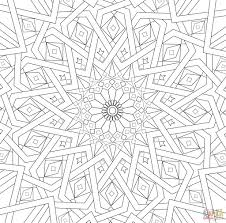 Printable Mosaic Coloring Pages Patterns Itc Info Us And Islamic