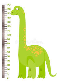 Kindergarten Height Chart Vector Illustration Of Kids Height Chart With Cartoon
