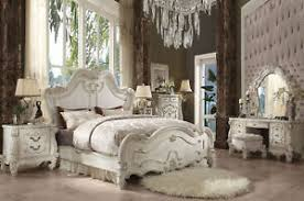 NEW Traditional Antique White Bedroom Furniture - ARIES 6pcs Queen ...