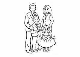Bộ sưu tập các tranh tô màu gia đình hạnh phúc - Tranh Tô Màu cho bé