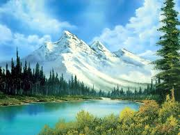 he is my favorite artist one of his sayings is in art they re no such things as mistakes here is one of his paintings of a mountain scene