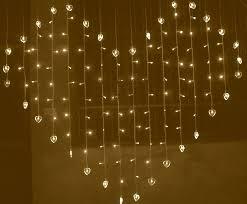 fairy lighting. led heart shaped fairy lights curtain warm white lighting u