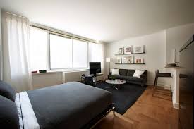 ... Modern Style Of Decorating A Small Studio Apartment : Astounding  Decoration In Parquet Flooring Small Studio ...