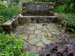 Lawn & Garden:Extraordinary Pebble Mosaic Wall For The Water Fall Garden  Also Small Pool