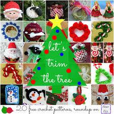 Crochet Decoration Patterns Fiber Flux Lets Trim The Tree 20 Free Crochet Ornament Patterns