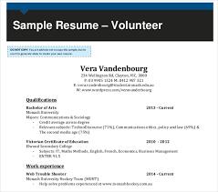 10+ Volunteer Resume Templates - Pdf, Doc | Free & Premium Templates