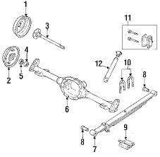 parts com® oldsmobile rear suspension suspension components 1993 oldsmobile bravada base v6 4 3 liter gas suspension components