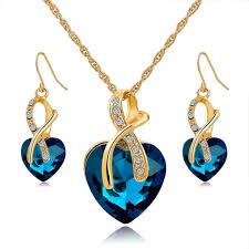 austrian swarovski crystal necklace earring set amosh european jewellery