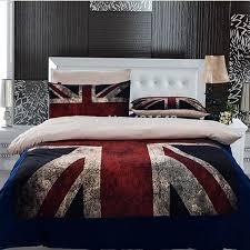 3pcs 4pcs UK flag Bedding Set Twin Full Queen Size USA flag duvet