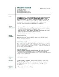 Academic Resume Template For College Amazing College Interview Resume Template Sample Of Resume For Mock
