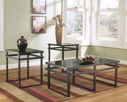 ashley furniture t180 13 laney 3 piece coffee table set ashley furniture black glass coffee table