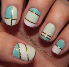 Nail Nails Designs With Tape Design Strips Arts How To Do A Stripe ...