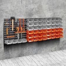65pc wall mounted storage bin board