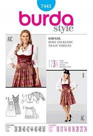Dirndl Pattern Magnificent Amazon Burda Ladies Sewing Pattern 48 Dirndl Dress With Apron