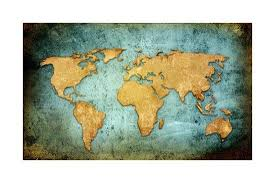 World Map Textures And Backgrounds Art Print By Ilolab Art Com