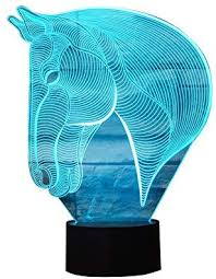 3D Lamp LED night light Novelty Animal Left zebra 7 ... - Amazon.com