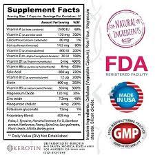 kerotin hair growth formula. Kerotin Hair Growth Formula Vitamins 1 Bottle Day Supply Uk Reviews L