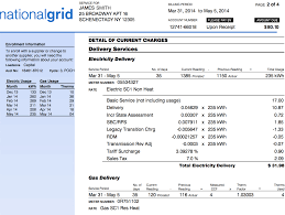 National Grid Customer Service Understanding Your National Grid Bill In New York State