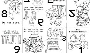 Small Picture 10 Commandments Coloring Pages For Preschoolers Ten Commandments