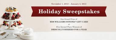 win a 500 williams sonoma gift card