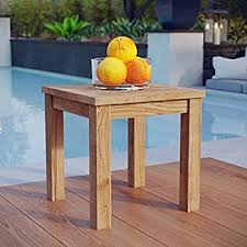 Small Picture Amazoncom Oxford Garden Shorea End Table Outdoor And Patio
