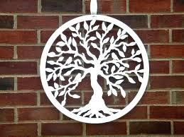 tree of life metal wall art hanging indoor outdoor