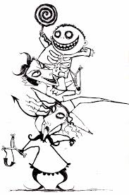 Disney Nightmare Before Christmas Coloring Pages Coloring Pages