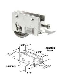 sliding glass patio door roller assembly 1 1 4 stainless steel