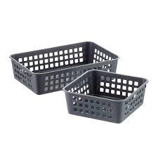Grey Multipurpose Plastic Storage Baskets ...