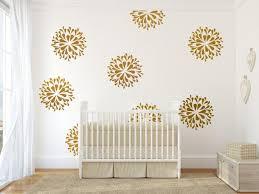 kids bedroom wall art gold wall decals