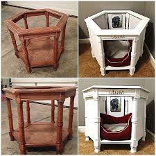 fullsize of unusual end table dog crate plans end table into dog bed hexagon end table