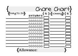 Weekly Allowance Chore Chart Downloadable Chore Chart Chore Chart Rewards Money To Do Digital Chore Chart Pdf Printable Chore Chart