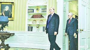 us president office. US President Donald Trump And Vice Mike Pence Walk Into The Oval Office At White House. Us