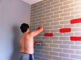 brick painting ideasHow to Make a Faux Brick Wall Using Paint  Hometalk