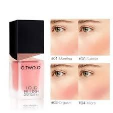 o makeup liquid blusher sleek silky paleta de blush color lasts long