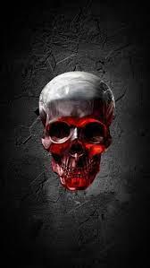 Skull, neon, red, HD mobile wallpaper ...