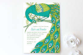 peacock invitations elegant peacock print it yourself wedding invitations by 2birdstone