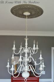 painting brass chandelier silver musethecollective after shot of the painted