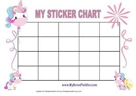 Unicorn Star Chart Printable Reward Charts My Bored Toddler