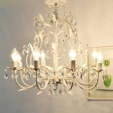 country style vintage white crystal rococo tree branch chandelier lights lighting