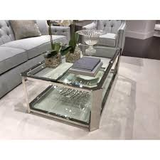 extra silver and glass coffee table ryne modern classic polished kathy kuo home carafe australium server uk square