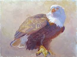charles timothy prutzer painting untitled eagle painting oil on linen