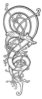 Celtic Dragon Celtic Knots Inspiration Mandala