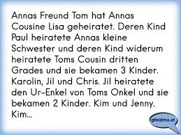 Annas Freund Tom Hat Annas Cousine Lisa Geheiratet Deren Kind Paul
