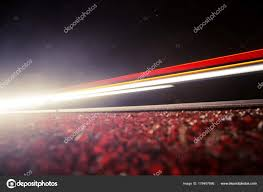 Mooie Abstracte Auto Lampjes Een Landweg Verkeer Nacht Zoek Van