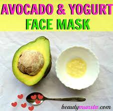 deep hydrating avocado and yogurt face mask recipe