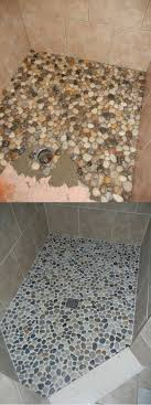 river rock shower floor project