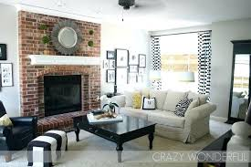 living room decorating ideas with brick fireplac on unusual